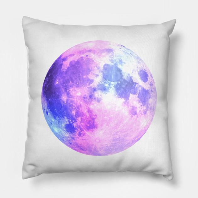 Watercolor Purple Moon