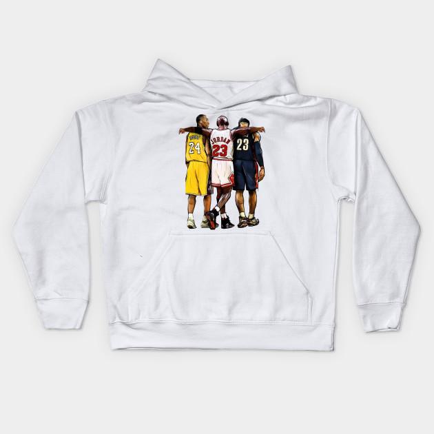 055cd3094 Kobe Bryant x Michael Jordan x Lebron James - Nba - Kids Hoodie ...