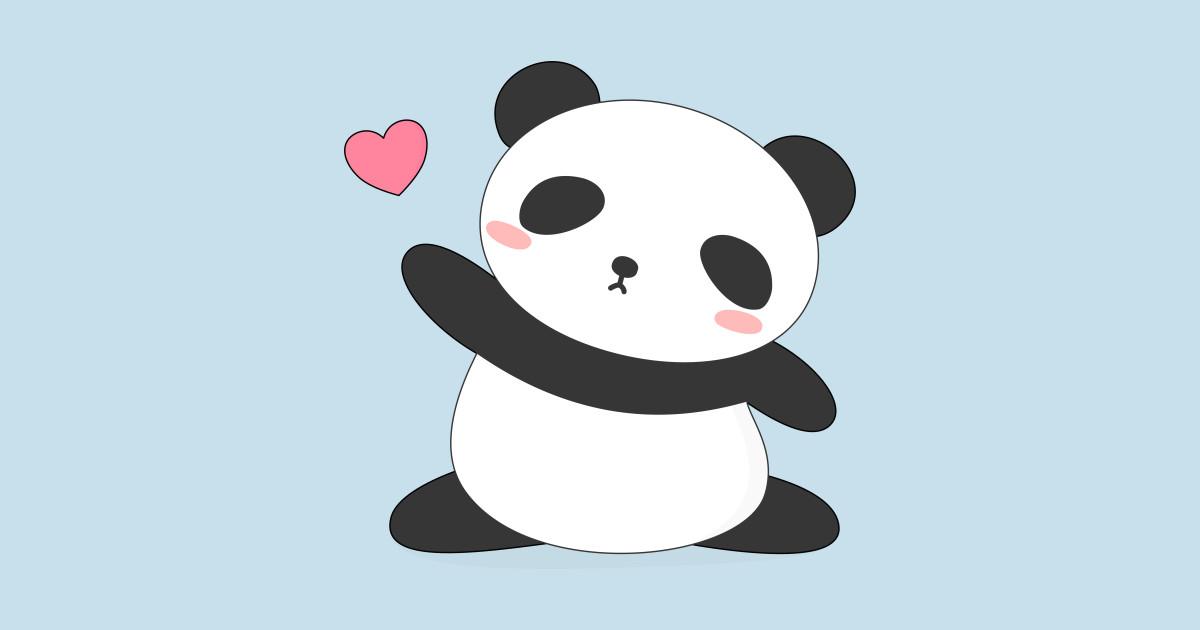 Kawaii Cute Panda Bear T-Shirt