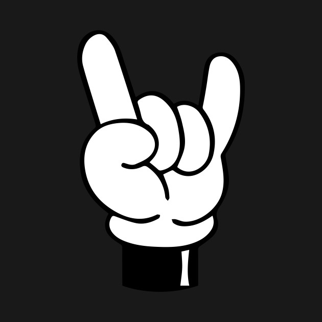 Mickey Mouse Hands Devil Horns Rock N Roll Sign Mickey Mouse T