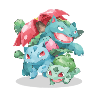 Bulbasaur in Geometric t-shirts