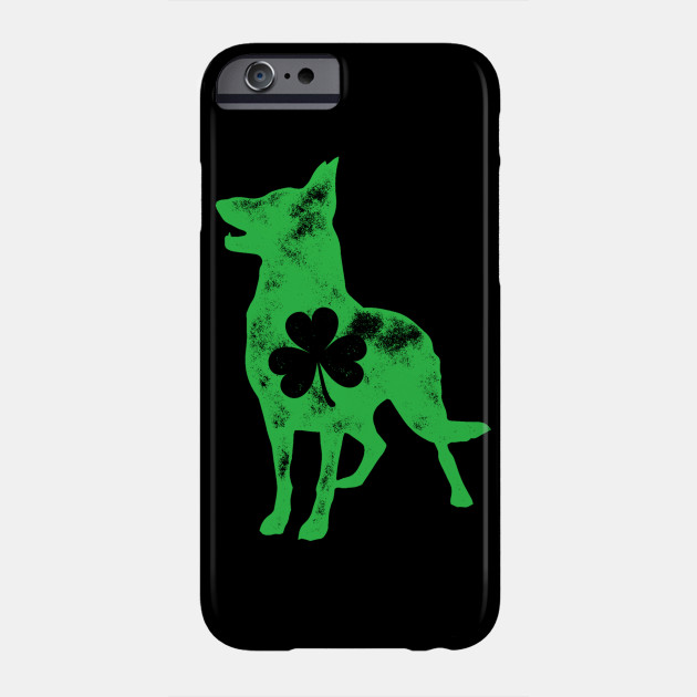 German Shepherd St Patricks Day Men Dog Shamrock Phone Case