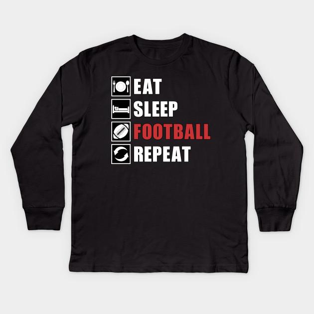Cool Long Sleeve Shirt Eat Sleep Bowling Repeat Tee Shirt
