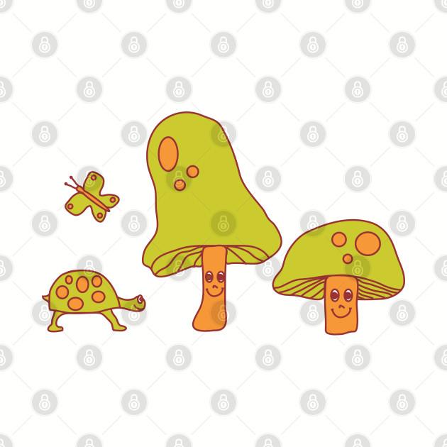 Smiling Mushroom Hippie