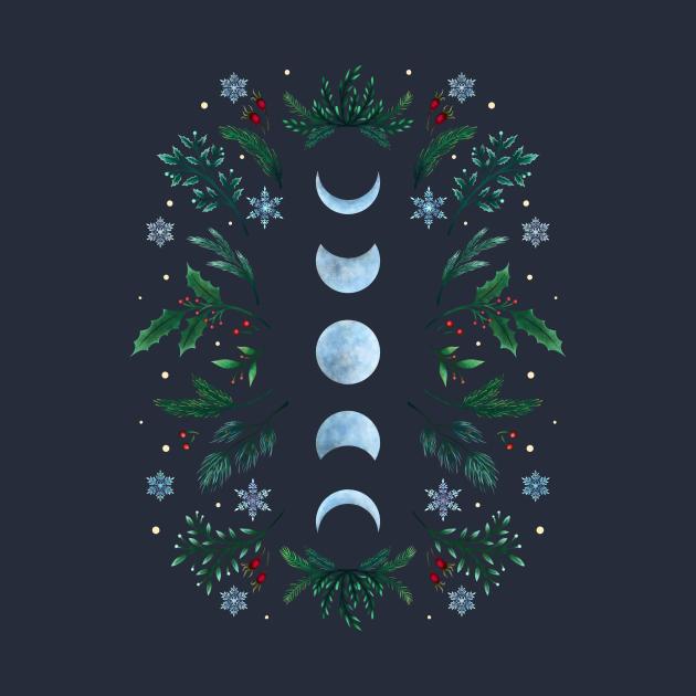 Moonlight Garden - Festive Green