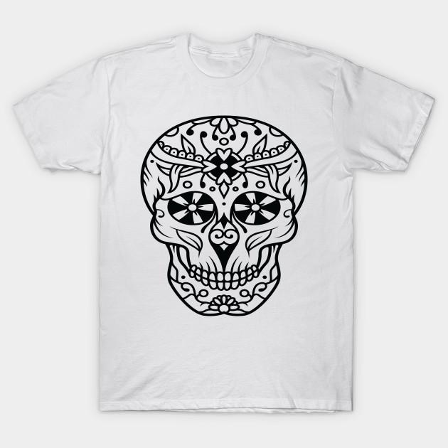 sugar skull face portrait skeleton day of the dead mexican dia de