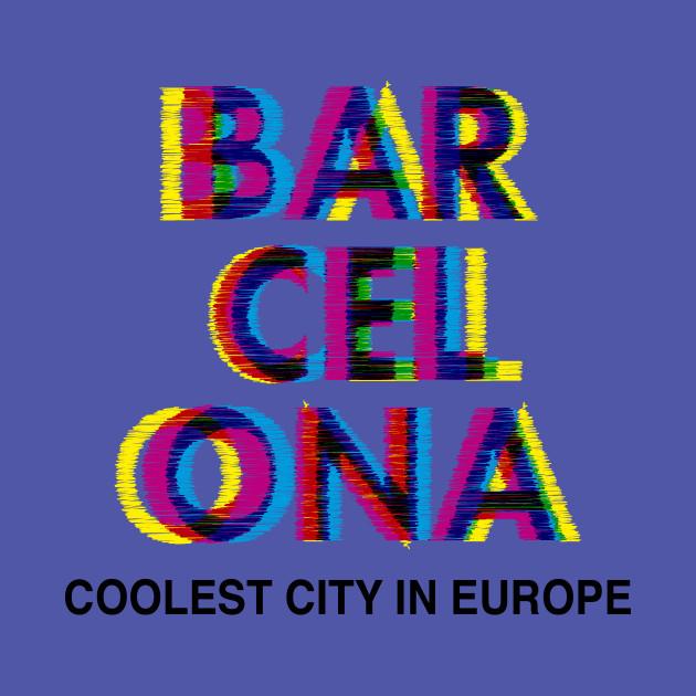 Barcelona Glitch Psychedelic - Barcelona - Sudadera Con Gorro Para Niños  44987f15d31