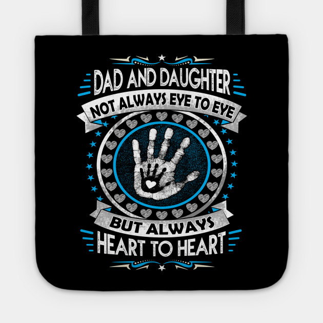 Dad And Daughter Heart To Heart Forever Death Anniversary Gift