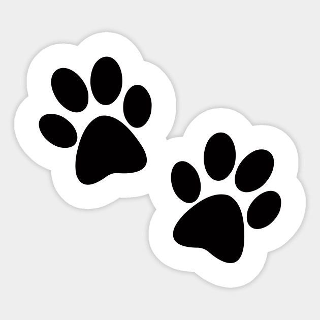 Black Paw Print Paw Prints Sticker Teepublic Uk Also black paw print png available at png transparent variant. black paw print