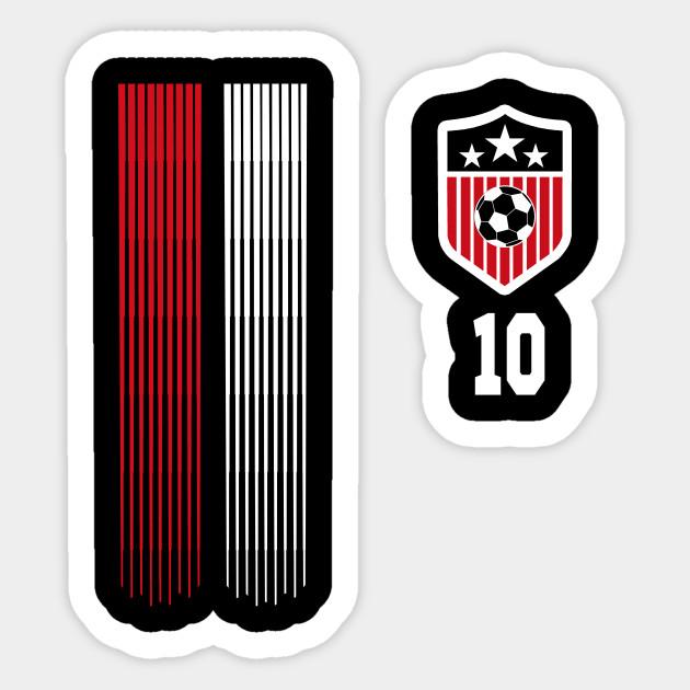 new product 039b4 ef232 USA Women Soccer T Shirt #10 Carli Lloyd American Flag Soccer Player Team  Futbol