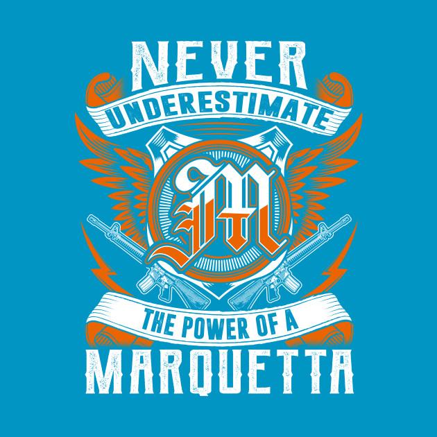 Never Underestimate The Power of Marquitta Hoodie Black