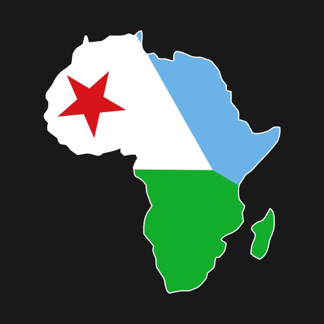 Djibouti pride Djibouti flag Africa map - I Love Djibouti Flag ...