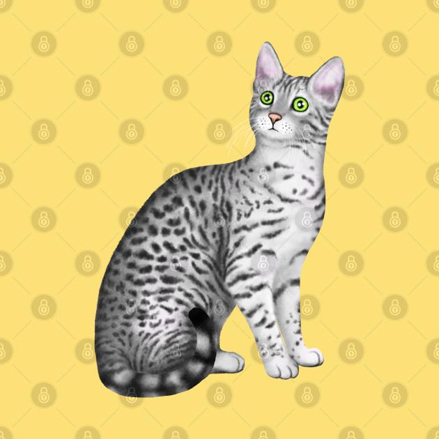 Egyptian Mau (Yellow Background)