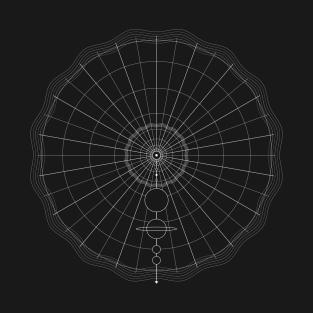 geometric solar system t-shirts