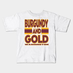 DC LYFE Burgundy and Gold Washington DC True Football Colors! Kids T-Shirt c2a6cce7b