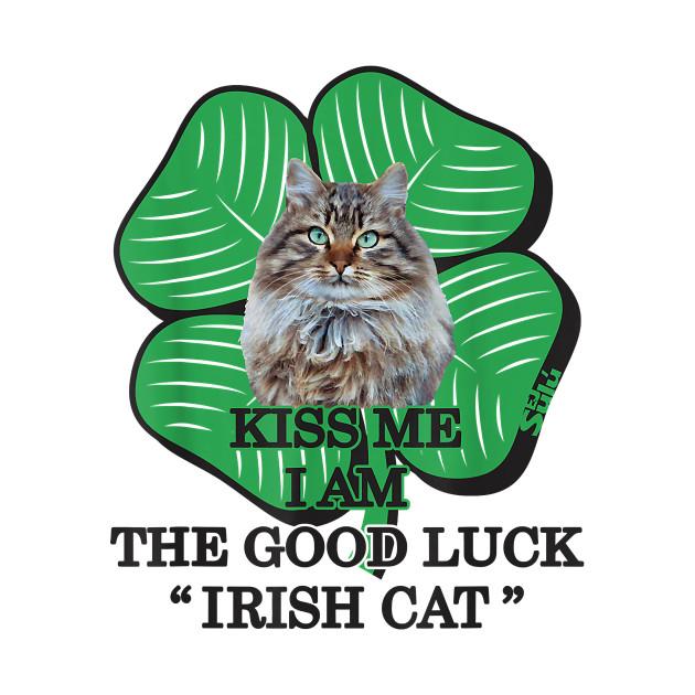 Kiss me i am good luck st patricks day irish cat