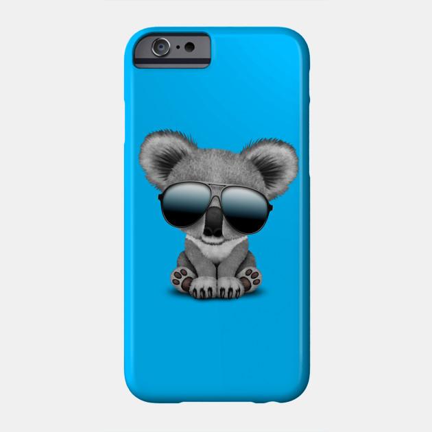 16d9417bcd9 Cute Baby Koala Bear Wearing Sunglasses - Baby Koala - Phone Case ...