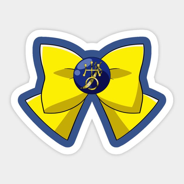 Sailor Uranus Bow Pretty Guardian Sailor Moon Sticker Teepublic