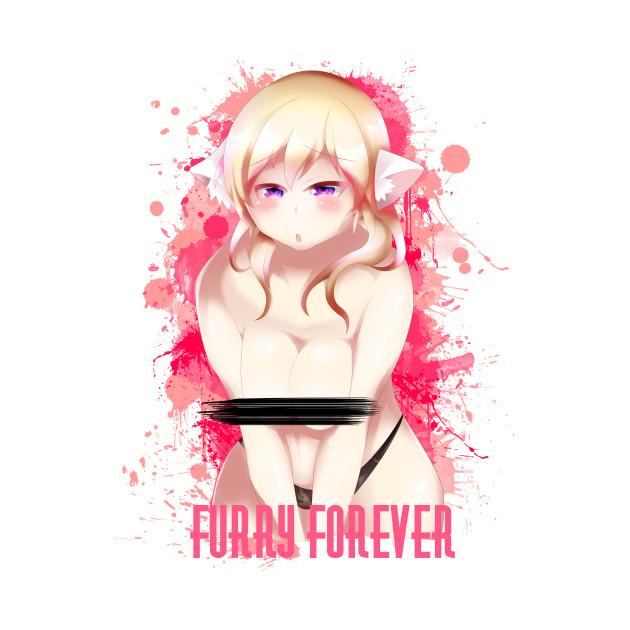 Blonde Hair Bikini Furry Girl Censored