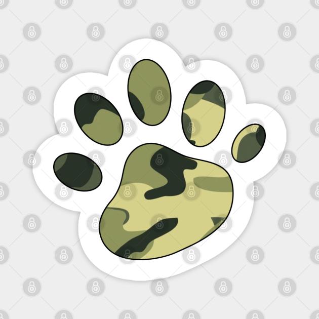 Dog paw Camo