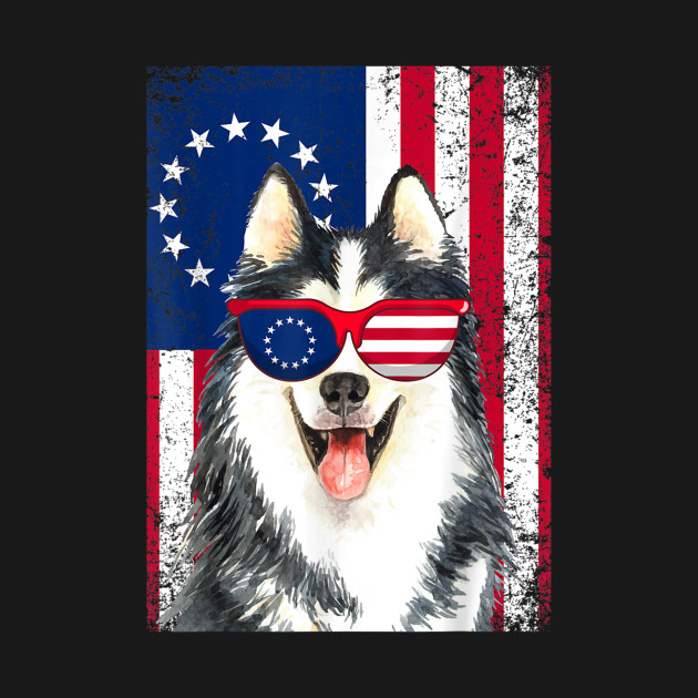 eaa081b6f5f Patriotic Husky Betsy Ross Sunglasses USA Grunge Flag - Husky Lover ...