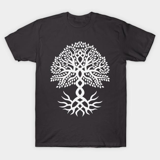 Yggdrasil The Tree of Life White by ashottshirt