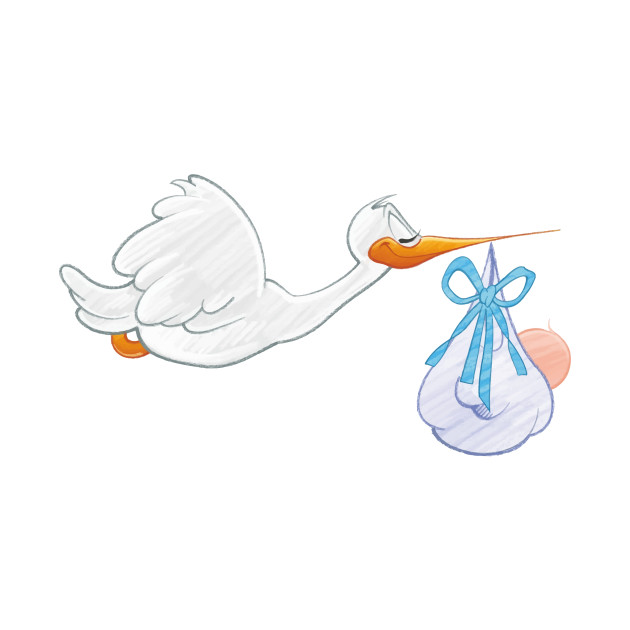limited edition exclusive stork carrying baby boy stork carrying