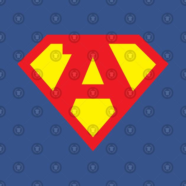 Letter A Superhero Symbol Superhero T Shirt Teepublic