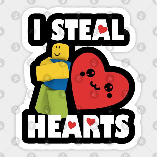 Roblox Noob Valentines Day I Steal Hearts Roblox Noob Sticker