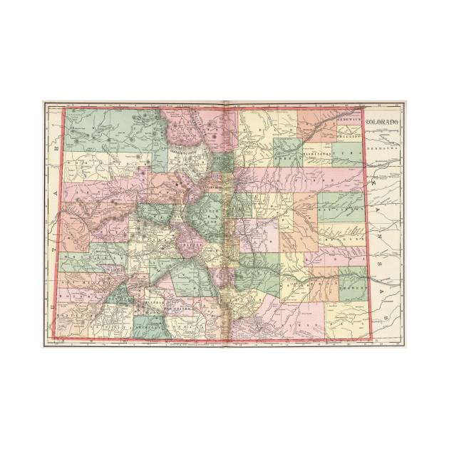 Colorado Map of Cities (1901)