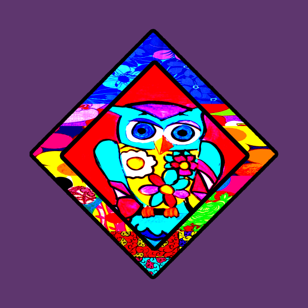 Red Owl Retro Diamond