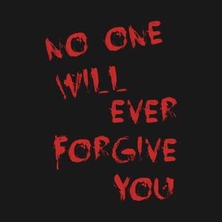 Killer's message to Audrey Jensen t-shirts