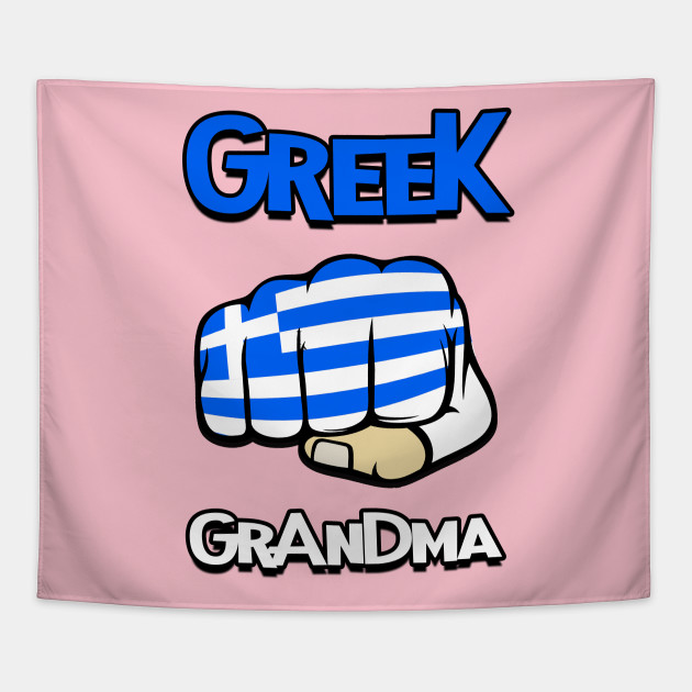 Greek Grandma Cool Greek Flag Greek Tapestry Teepublic
