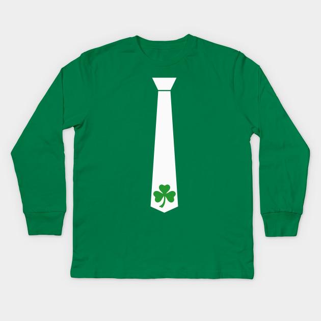 b19c4b1ffc9d Shamrock Neck Tie   St. Patrick's Day Irish Luck T-Shirt Gift Kids Long  Sleeve T-Shirt