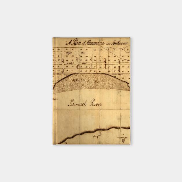 Old Alexandria Va Map By George Washington 1749 Alexandria Map