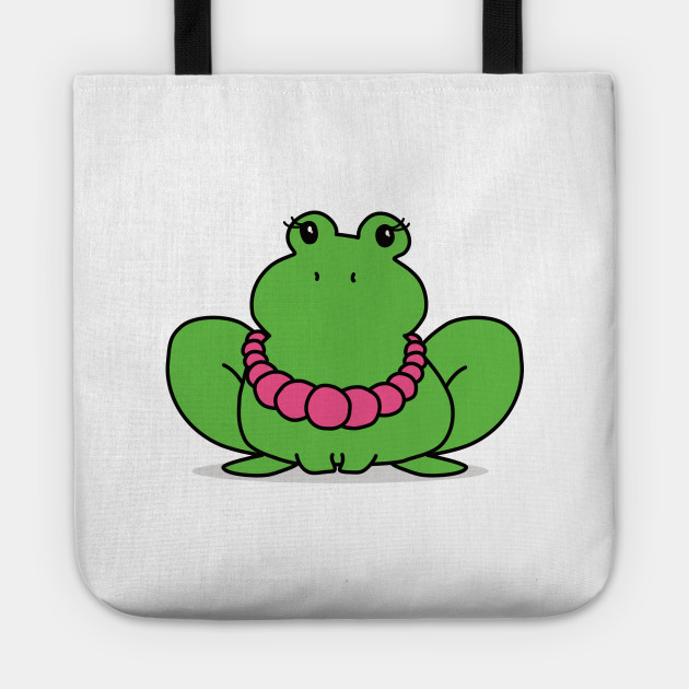 Super Cute Frog with a Big Pearl Necklace