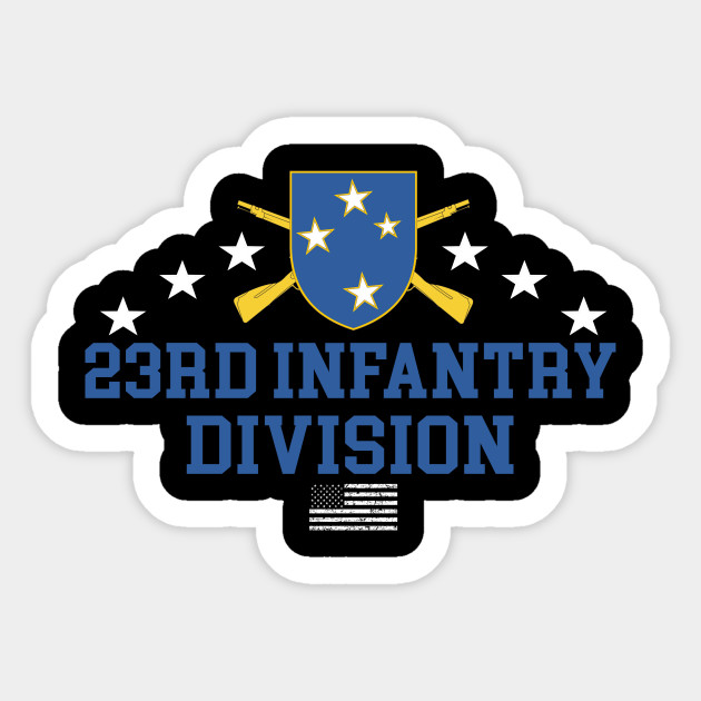 STICKER US ARMY 23RD INFANTRY DUI