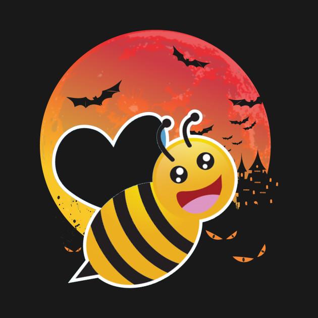 Funny Bee Halloween T Shirt Bee Moonlight Funny Bee Halloween Bee