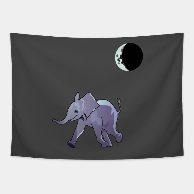 Baby Elephant's Midnight Stroll