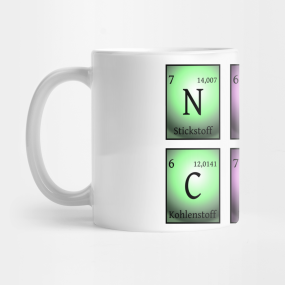 nerdy club in chemical elements...  Mug