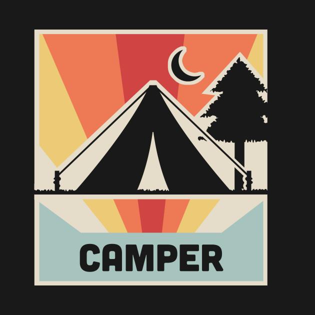 CAMPER | Vintage Camping Poster