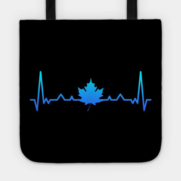Maple Leaf Heartbeat Canada Canadian Gift Dad Mom