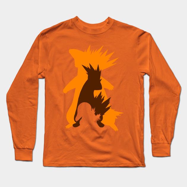 8aa03e42 Cyndaquil, Quilava & Typhlosion - Pokemon - Long Sleeve T-Shirt ...