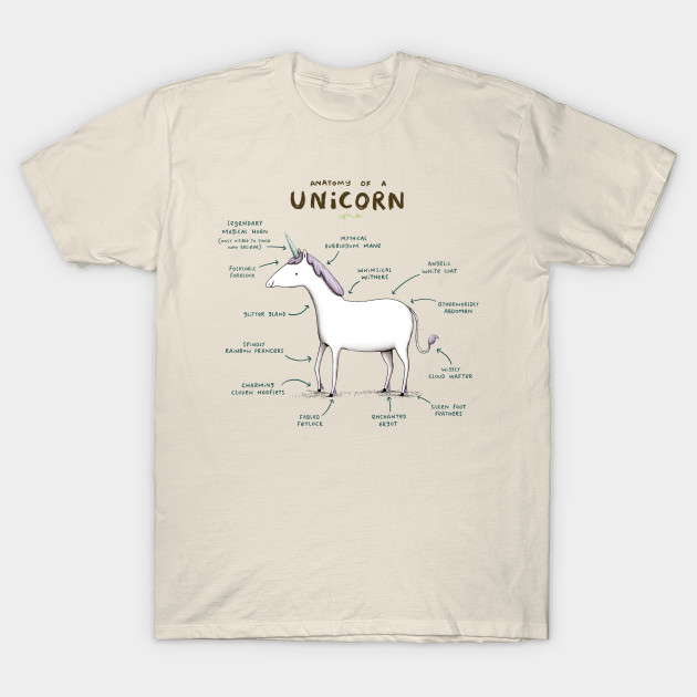 082a5bc71 Anatomy of a Unicorn - Unicorn - T-Shirt | TeePublic