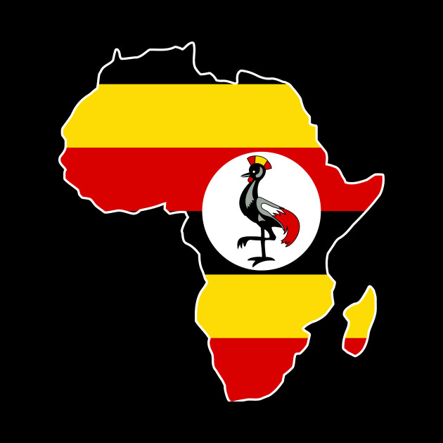 Ugandan Pride Uganda Flag Africa Map