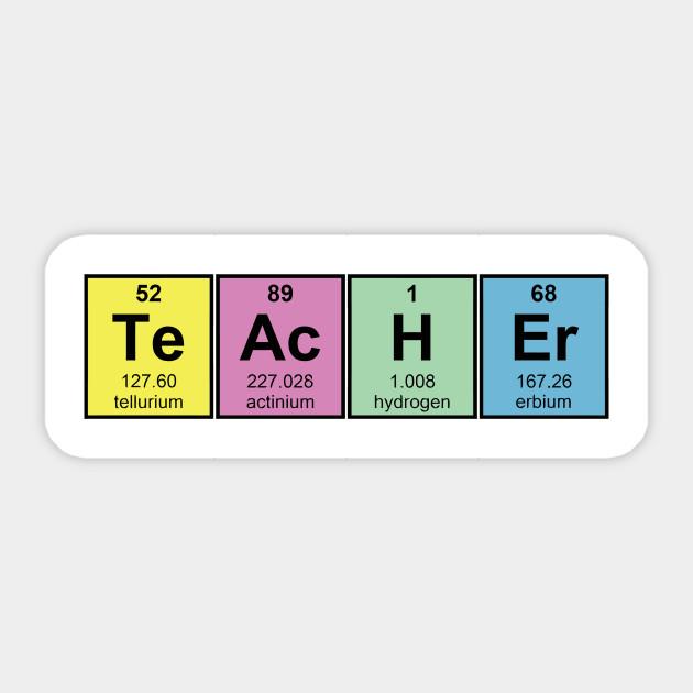 Teacher Periodic Table Back To School Sticker Teepublic