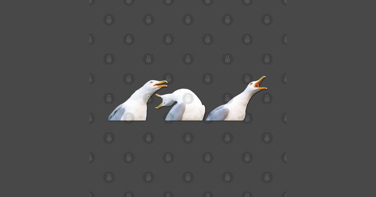 Inhaling Seagull - Meme - T-Shirt   TeePublic
