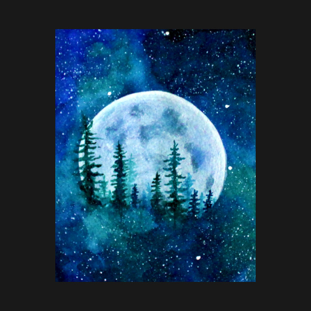 Moon and the Trees