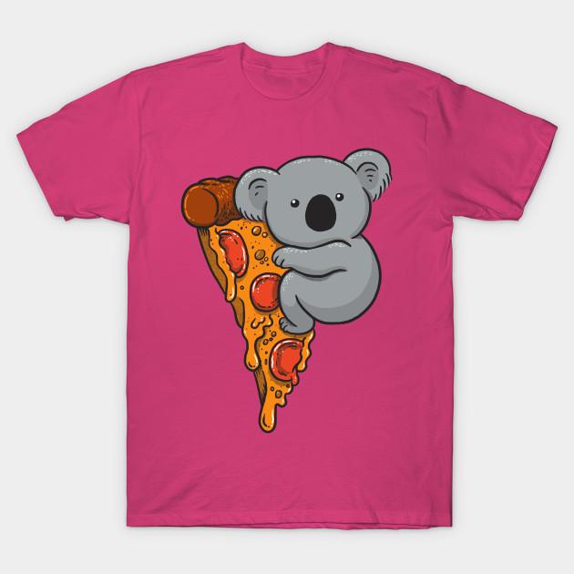 b63de67bdf37d4 Pizza Koala - Pizza - T-Shirt | TeePublic
