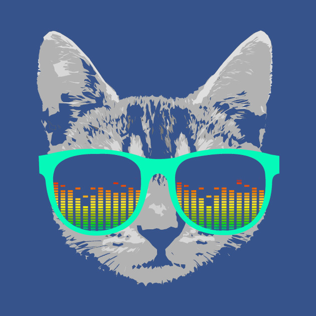 Music Cat with Glasses